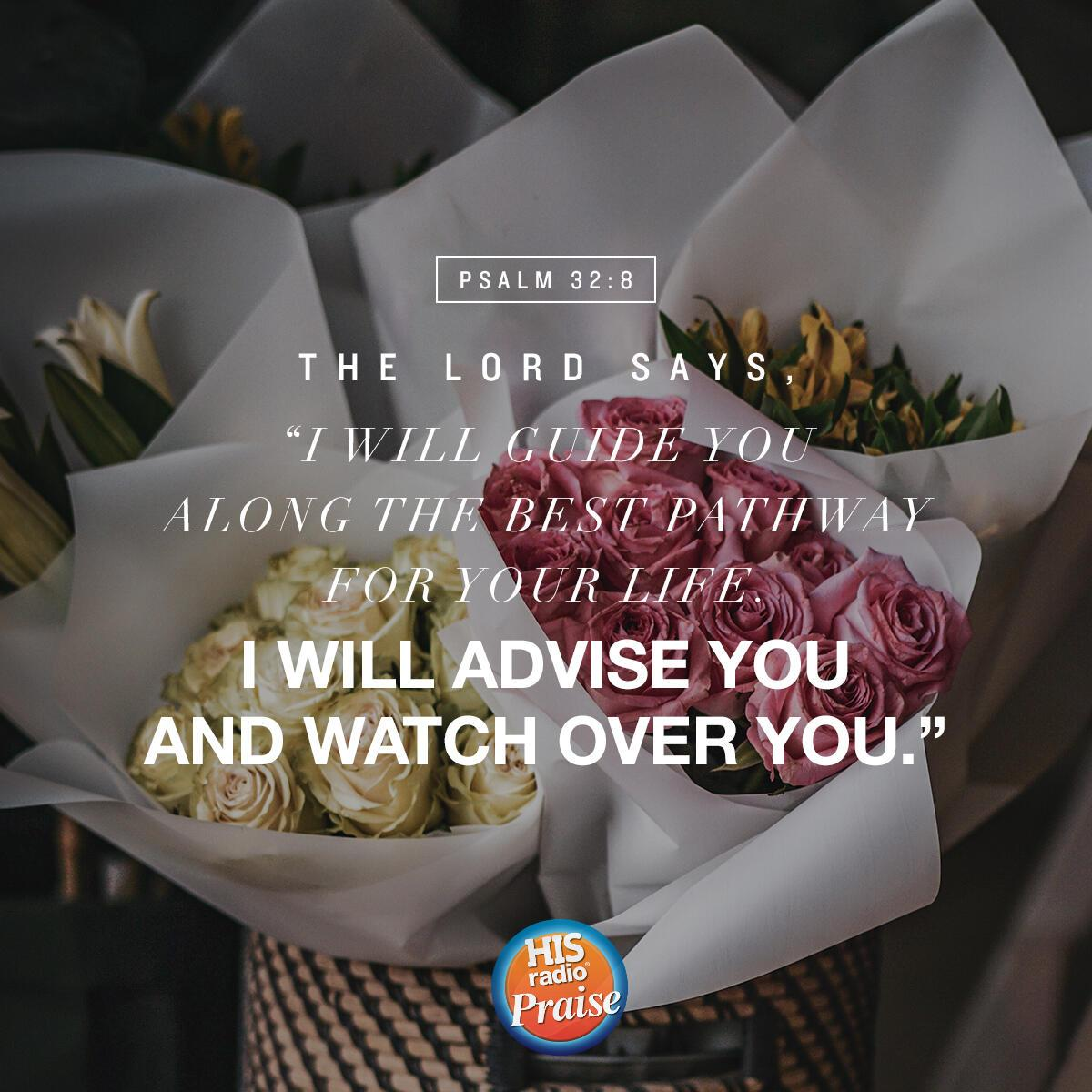 Psalm 32:8 - Verse of the Day